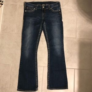 Silver Jeans Co Straight Fit Dark Wash Jeans